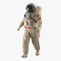 3d russian space suit orlan model