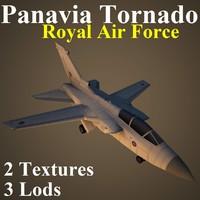 3d panavia tornado raf model