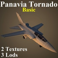 3d model panavia tornado basic