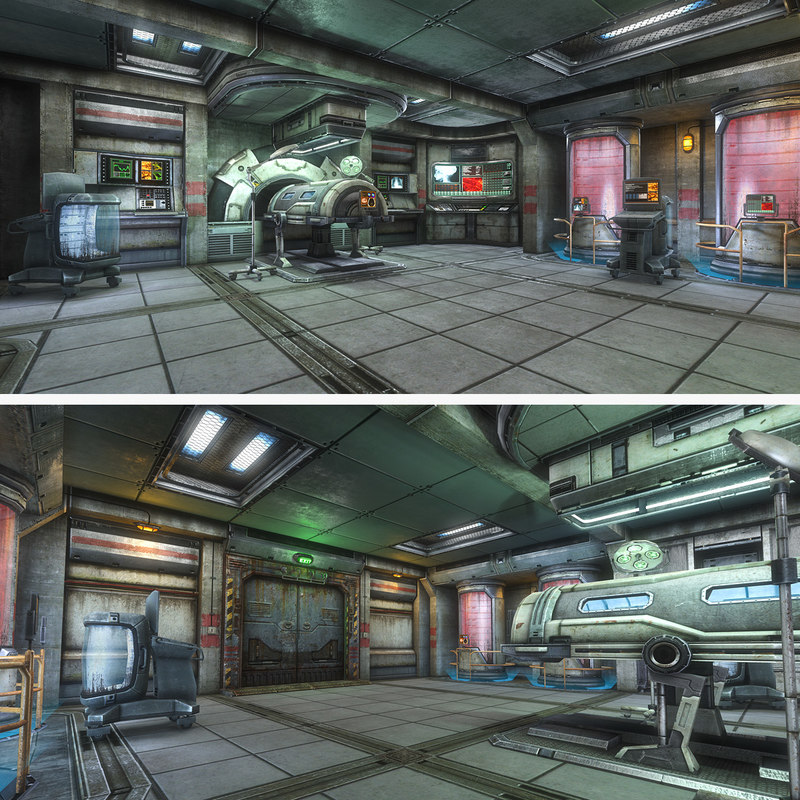 Sci Fi Hospital Room : Sci fi medical room d model