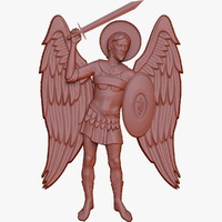 holy archangel michael 3d max