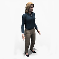 people - business female 3d dwg