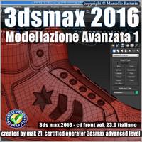 023 3ds max 2016 Modellazione Avanzata 1 v.23 Italiano cd front