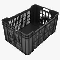 Plastic Crate 4 Black