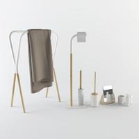 3d bathroom set accessories