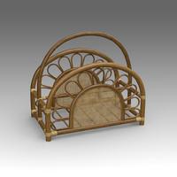 rotang magazine rack 3d model