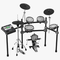 v stage electronic drum kit 3d model