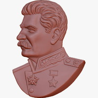 stalin medallion 3d model