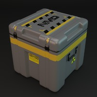 sci-fi container 3d obj