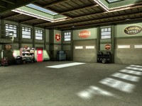 garage mechanic shop interior 3d model