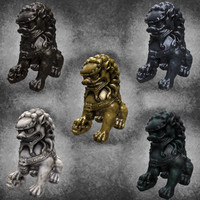 statue chinese lion 5 max