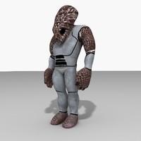 3d sci-fi character model