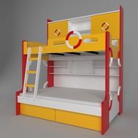 child childrens bed 3d 3ds