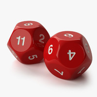 role playing dice 12 3d dxf