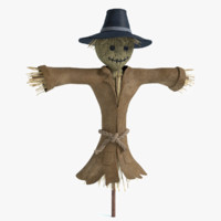 3ds max scarecrow crow