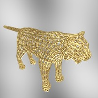 3d tiger carving model