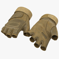 3d soldier gloves 2 model