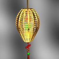 3d max chinese red lantern lighting lamp