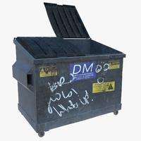 3d metal dumpster