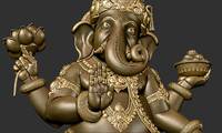 ganesha sculpture obj