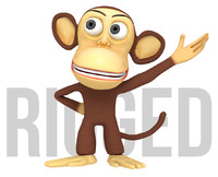 3d model monkey cartoon character