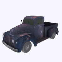 rusty car 3d model