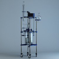 3d chemical glass reactor model