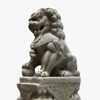 Old chinese lion