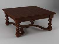 table coffee wood obj