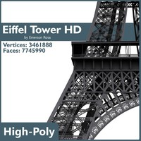 eiffel tower 3d obj