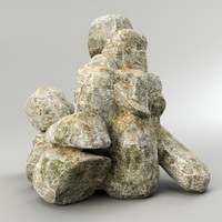 3d model rock