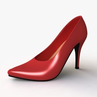 3d model heel female shoes