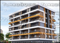 3ds max exterior scene residence