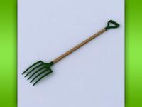 pitchfork 3d model