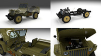 3d model military jeep willys