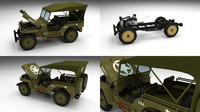 3ds max military jeep willys