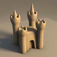 sandcastle sand 3d model
