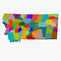 County Map - Montana