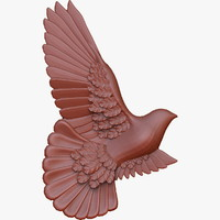 obj dove relief cnc