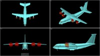 antonov an-70 transport aircraft 3d 3ds