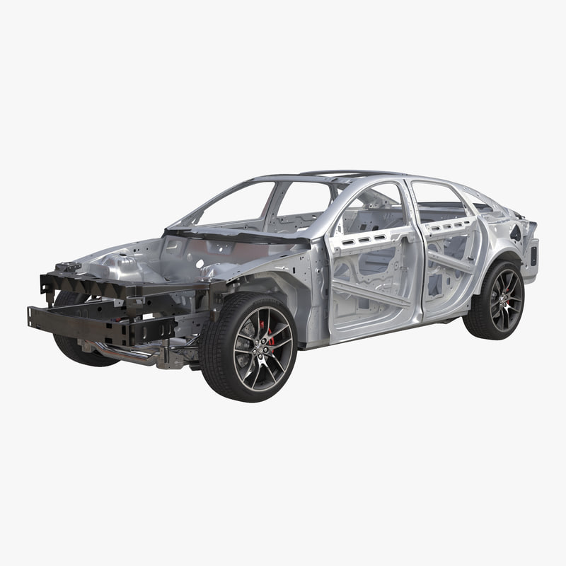 Car Frame with Chassis 3d model 000.jpg