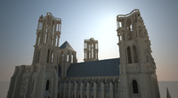 laon gothic cathedral 3d model