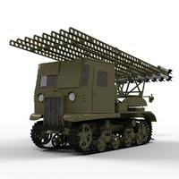 3d soviet katyusha rocket launcher model
