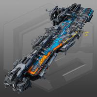 3ds max scifi frigate g2