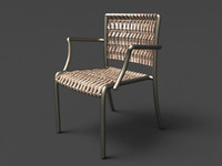 3d model waving stacking arm chair