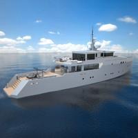 39 meter motor yacht 3d model