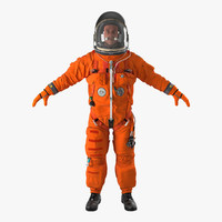 astronaut wearing advanced crew 3d max