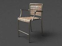 waving counter arm chair 3d model