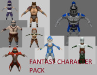 pack fantasy character(low+high)