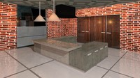 renovated kitchen 3d model